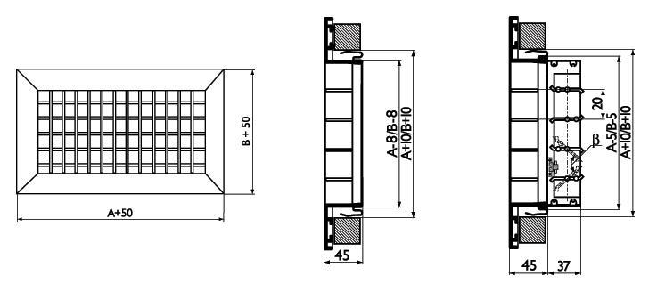 размеры сотовой решетки